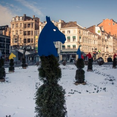 Froid et décor d'hiver (Liège, Belgique)