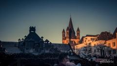Fin de journée hivernale à Cologne