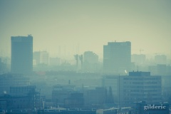 Hazy and cold Bratislava