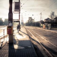 Abribus dans le froid (Bratislava)