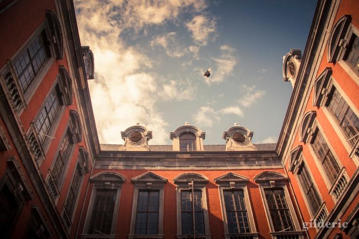 L'arrière de l'Hôtel de ville de Liège)
