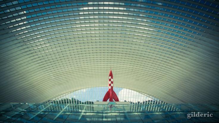 La fusée de Tintin à la gare de Liège-Guillemins