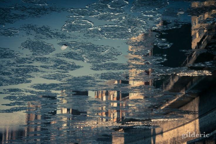 La Meuse glacée (Liège)