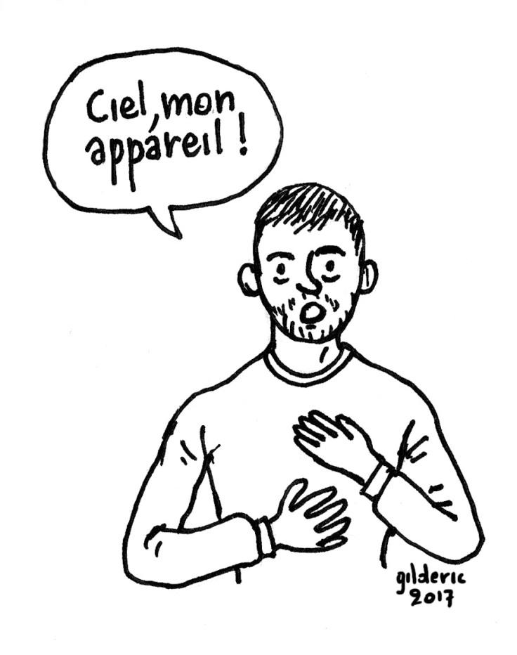 """Ciel, mon appareil !"" (dessin)"