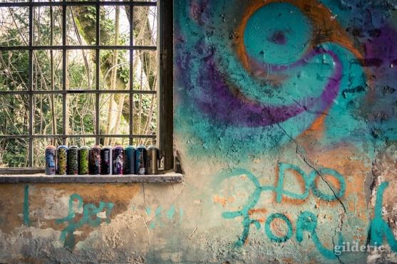 Peinture à la bombe au Fort de la Chartreuse