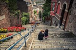Mère et fille (Montagne de Bueren, Liège)