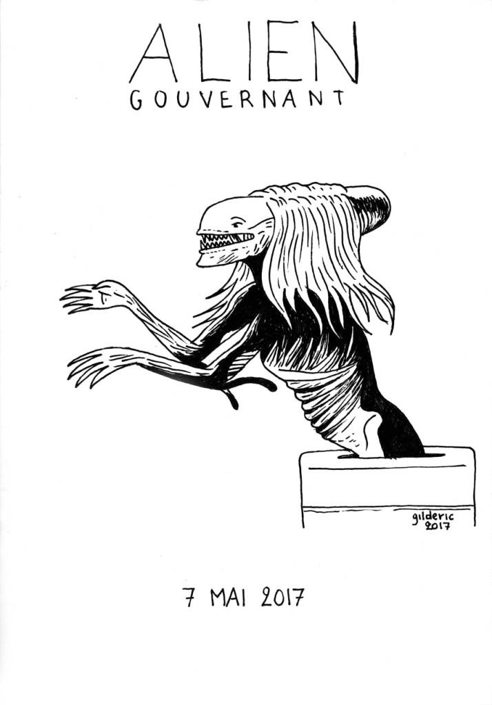 Alien Gouvernant (dessin parodie Marine Le Pen)