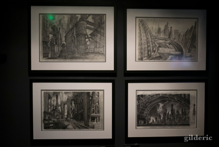 "Dessins de production de ""Batman"" de Burton"