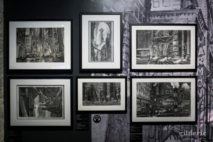 """Concept art pour le """"Batman"""" de Tim Burton"""