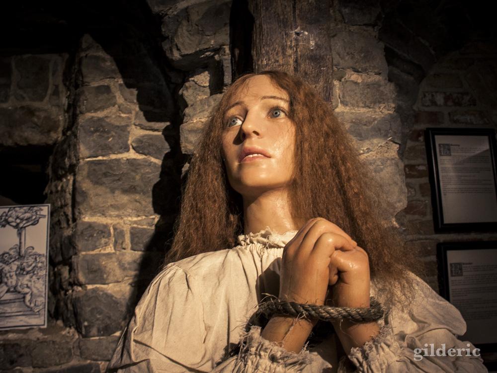 Personnage de cire au Musée de la Torture de Bruges
