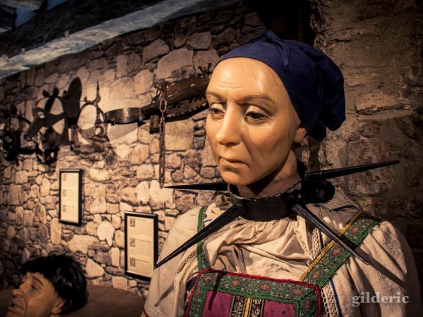 Reconstitution en cire au Musée de la Torture de Bruges
