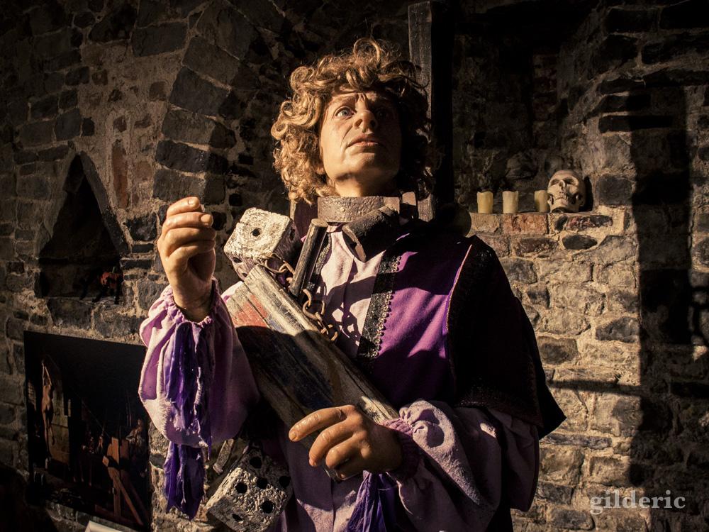 Figure de cire au Musée de la Torture de Bruges