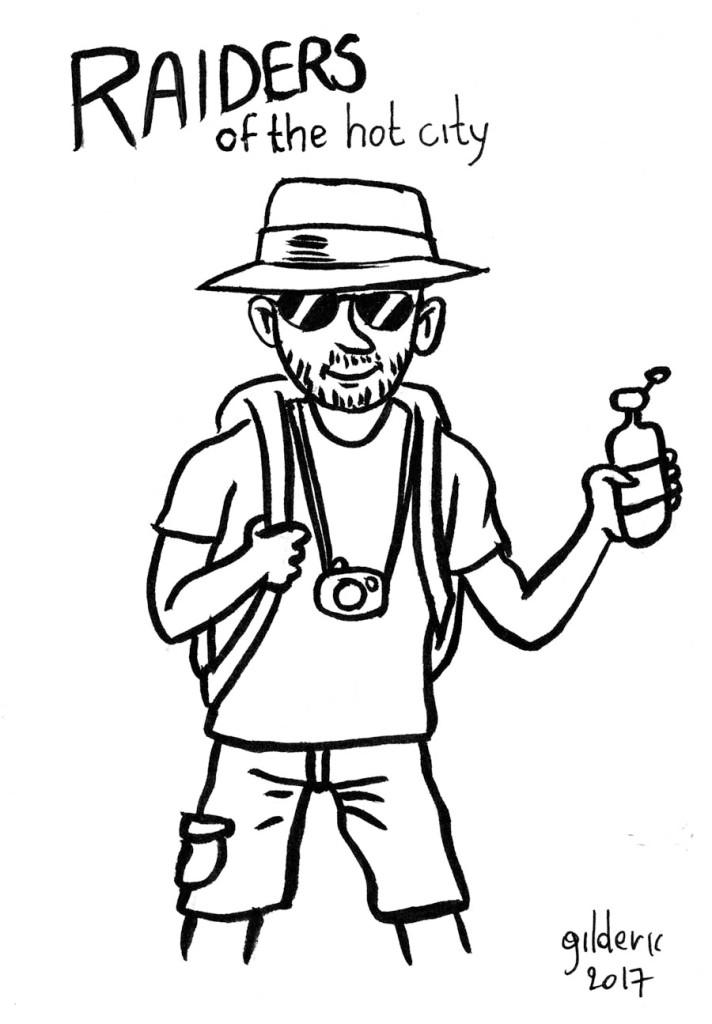 Le photographe aventurier (dessin)