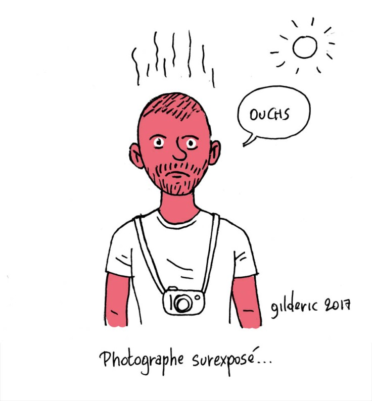 Le photographe surexposé (dessin)