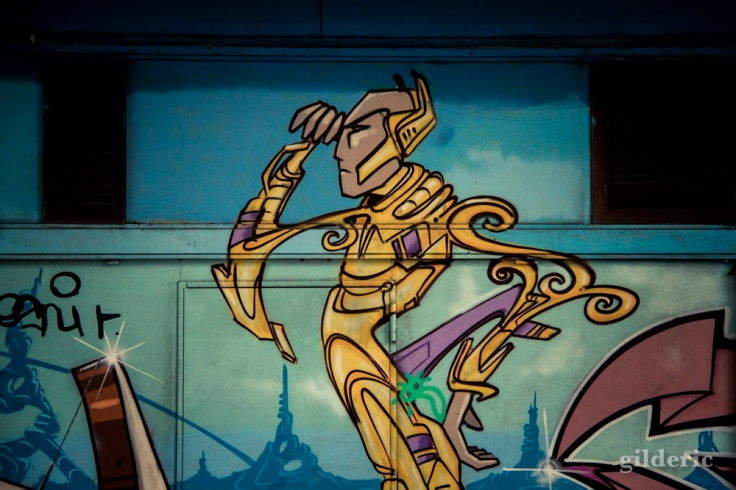Détail d'un graffiti SF