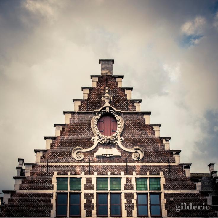 Détail d'une maison flamande