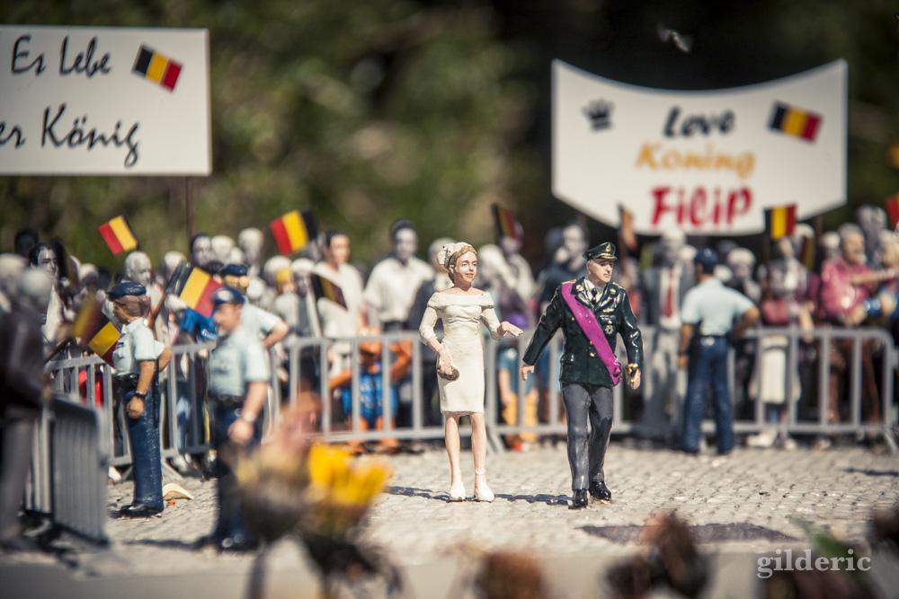 Le roi Philippe et la reine Mathilde en miniature à Mini-Europe (Bruxelles)