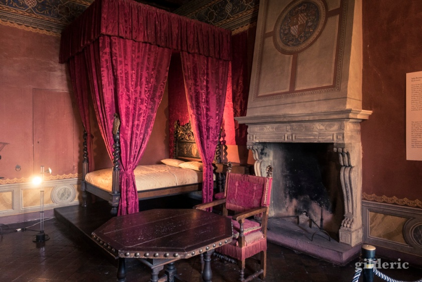 Chambre à coucher de la forteresse domaniale de Gradara