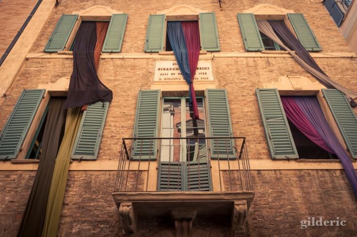Façade de la Casa Rossini à Pesaro
