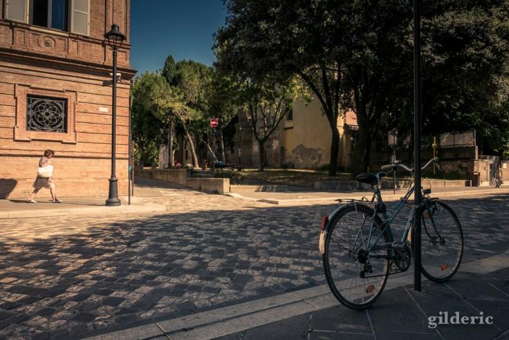 Vélos et piétons à Rimini