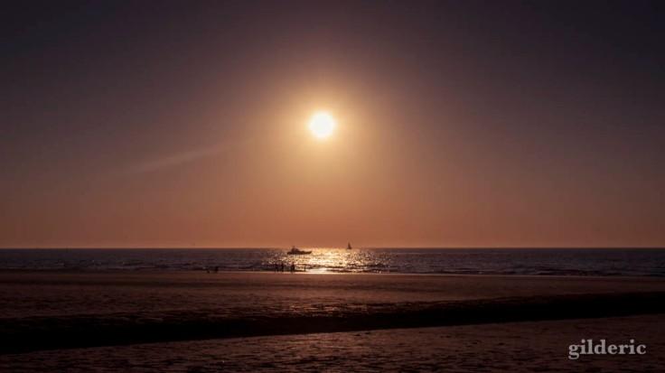 Coucher de soleil sur la mer (Blankenberge, Belgique)