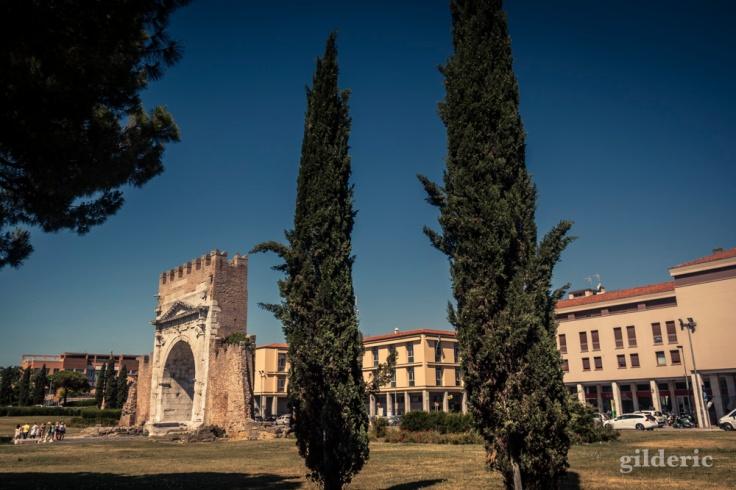 L'Arc d'Auguste à Rimini