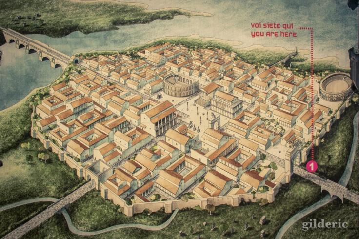 Plan de la cité romaine de Rimini