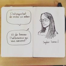 Sophie Ismaïl (dessin en live) au Café Numérique