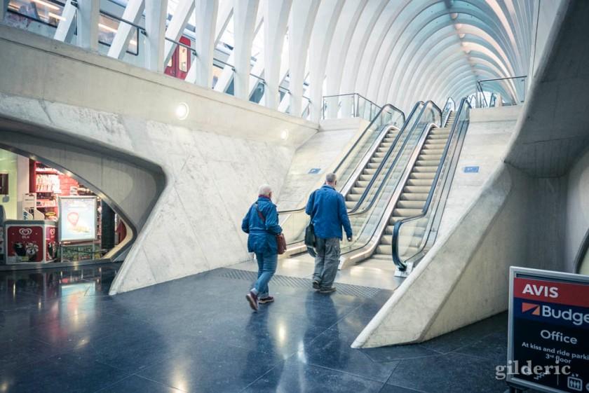 Voyageurs en gare de Liège-Guillemins