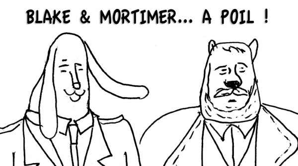 Carnets secrets : Blake & Mortimer à poil (dessin)