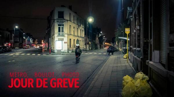 Métro, boulot, photo : jour de grève (à Liège)