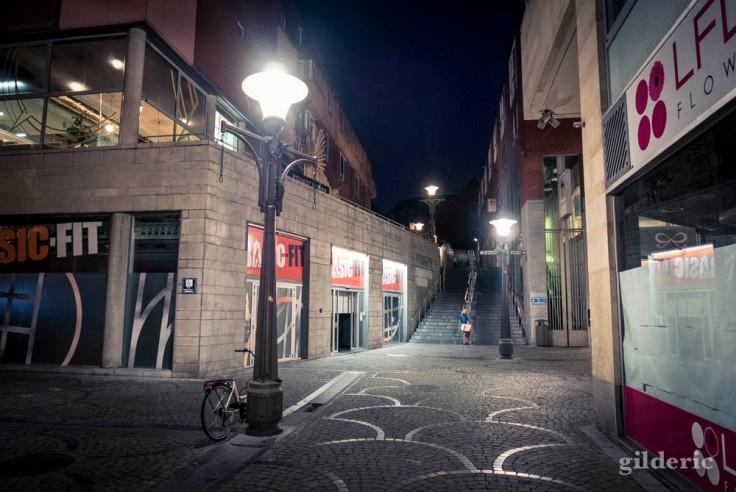 Jour de grève à Liège : fitness ou shopping (Espace Sain-Michel)