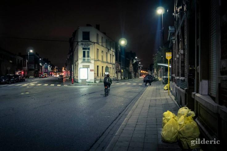 Grève à Liège : en vélo à la Bonne-Femme