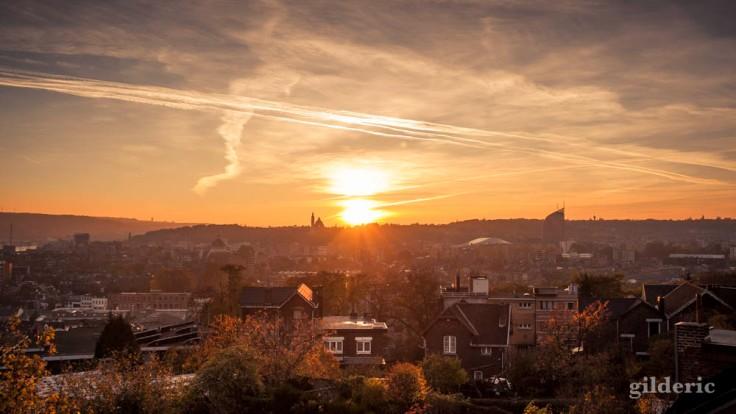 Coucher de soleil sur Liège en automne