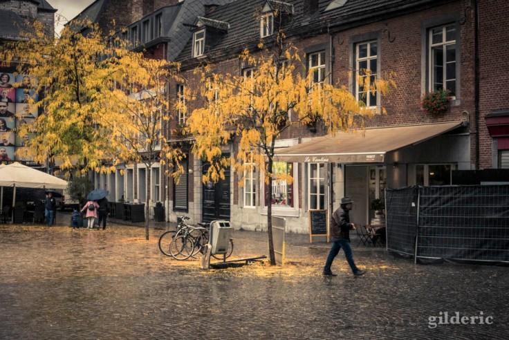 Pluie d'automne en ville