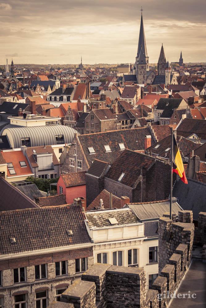 Les toits de Gand en automne