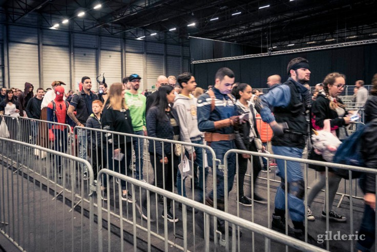 File d'entrée et cosplayeurs à Facts 2017