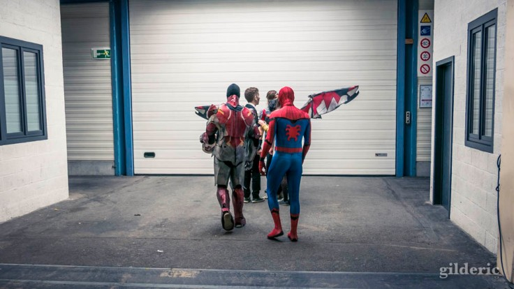 Spiderman et Iron Man (cosplay Marvel FACTS 2017)