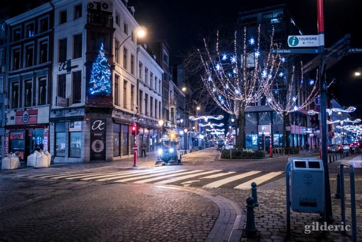 Nettoyage urbain et illuminations de Noël (Liège, 2017)