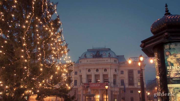 Opéra de Bratislava et marché de Noël