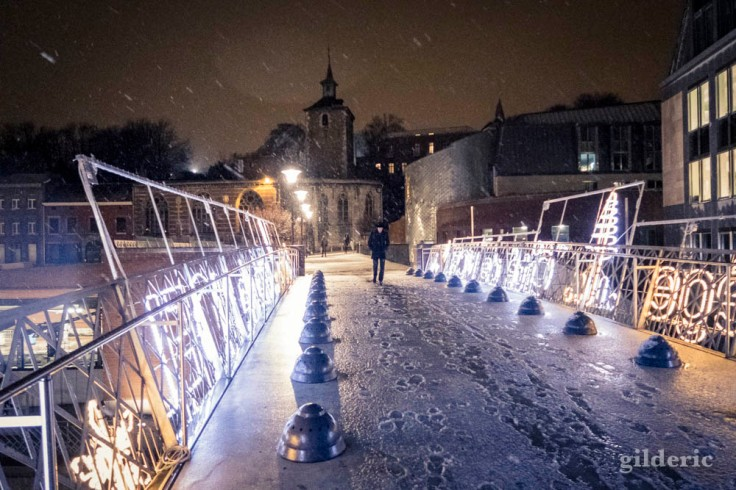 Quand il neige en ville (à Liège)