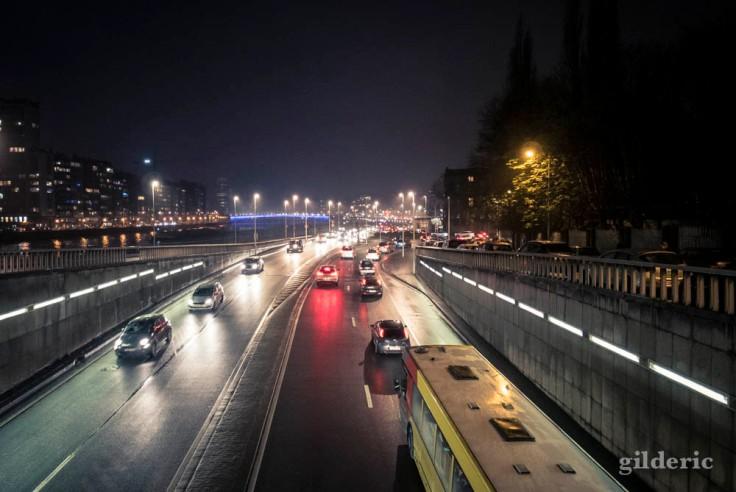 Circulation dense à Liège en fin de journée