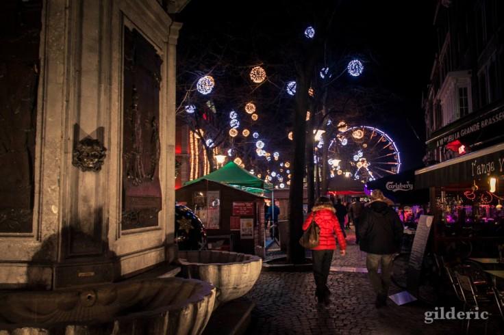 Village de Noël, place du Marché à Liège