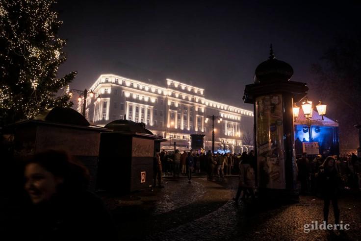 Hôtel Carlton, au centre de  Bratislava, la nuit du réveillon.
