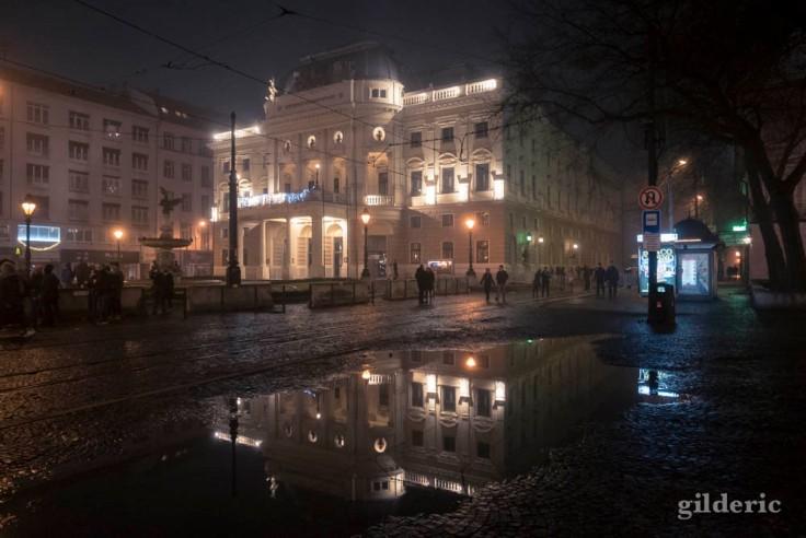 Réflection de l'Opéra de Bratislava