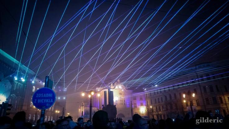 Light Show du Nouvel An à Bratislava