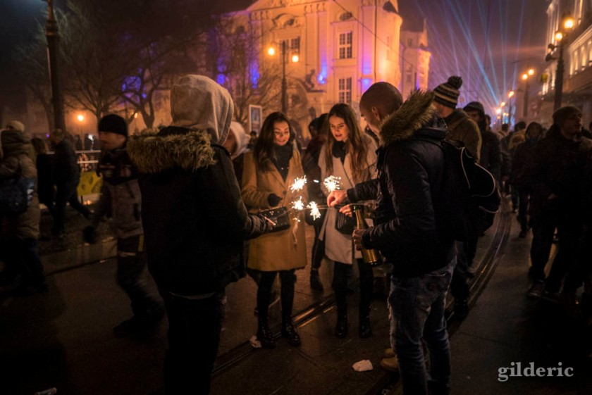 Les habitants de Bratislava fêtent le Nouvel An