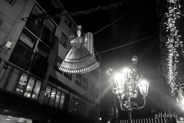 Ange et illuminations de Noël à Nuremberg