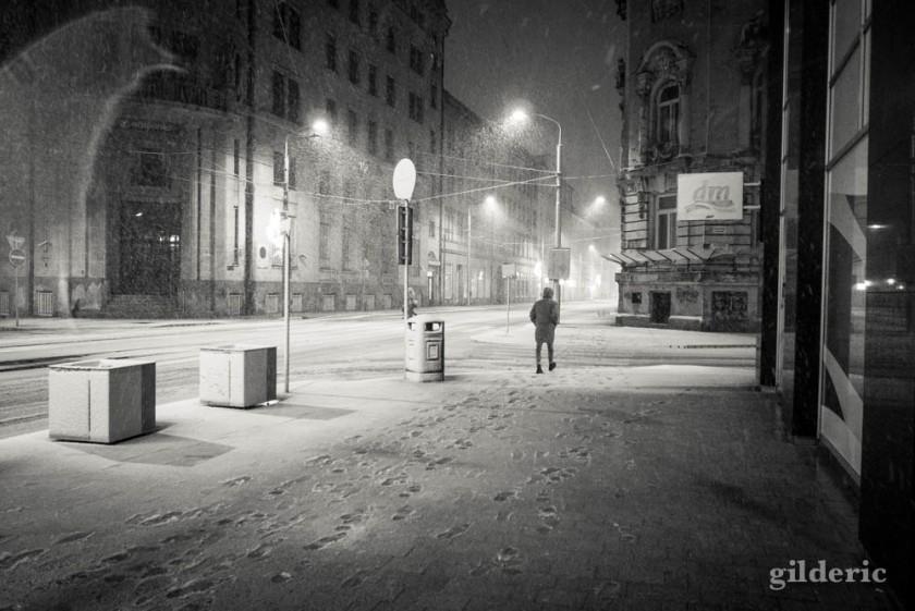 Sous la neige à Bratislava