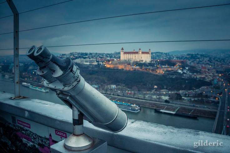 Le Château de Bratislava, vu de l'UFO